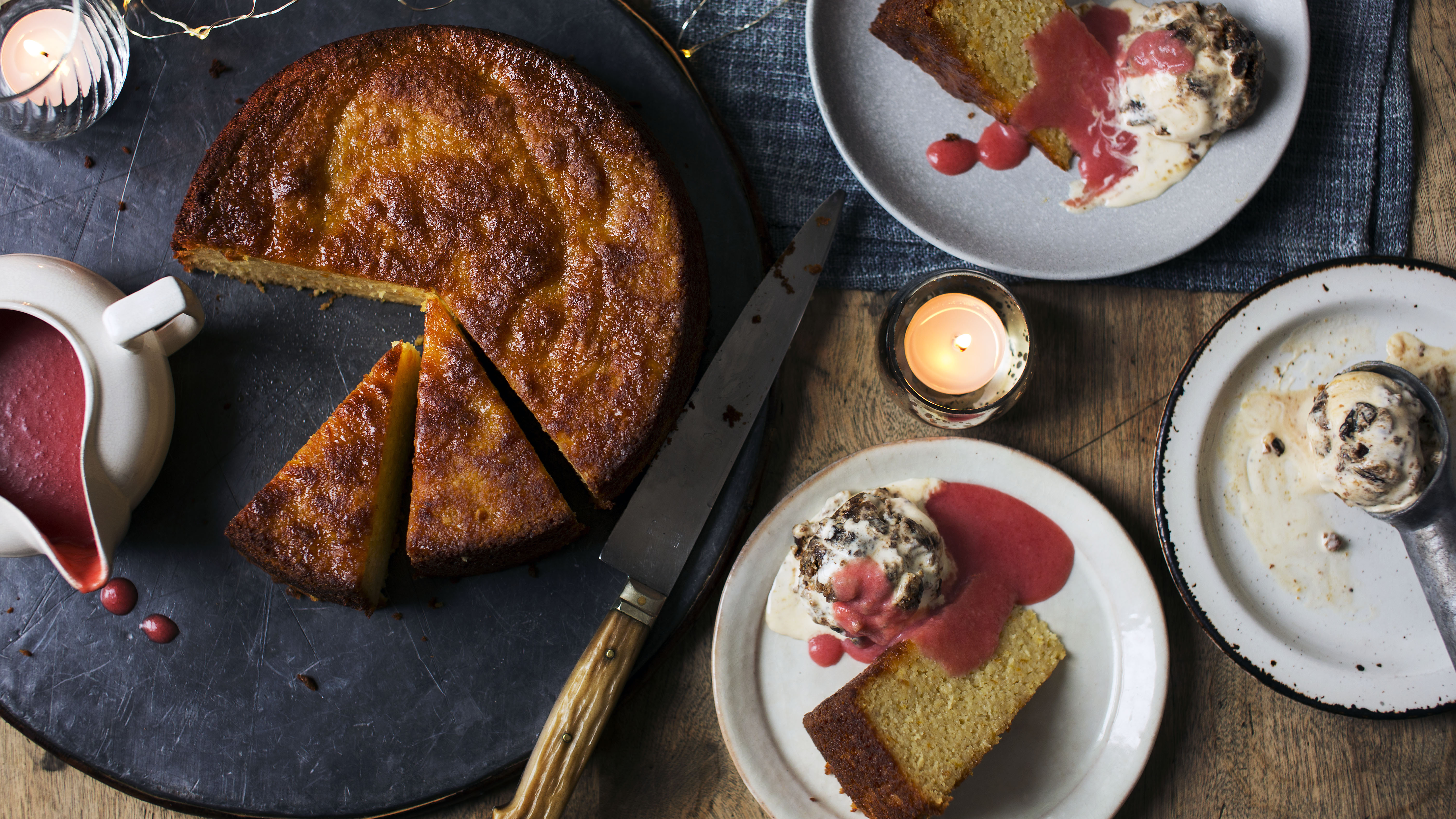 Spiced orange cake with christmas pudding ice cream recipe bbc food forumfinder Image collections