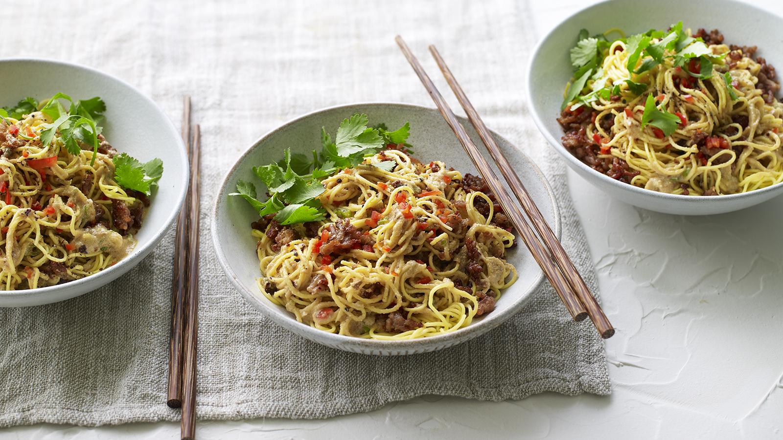Dan Dan Noodles Recipe Bbc Food