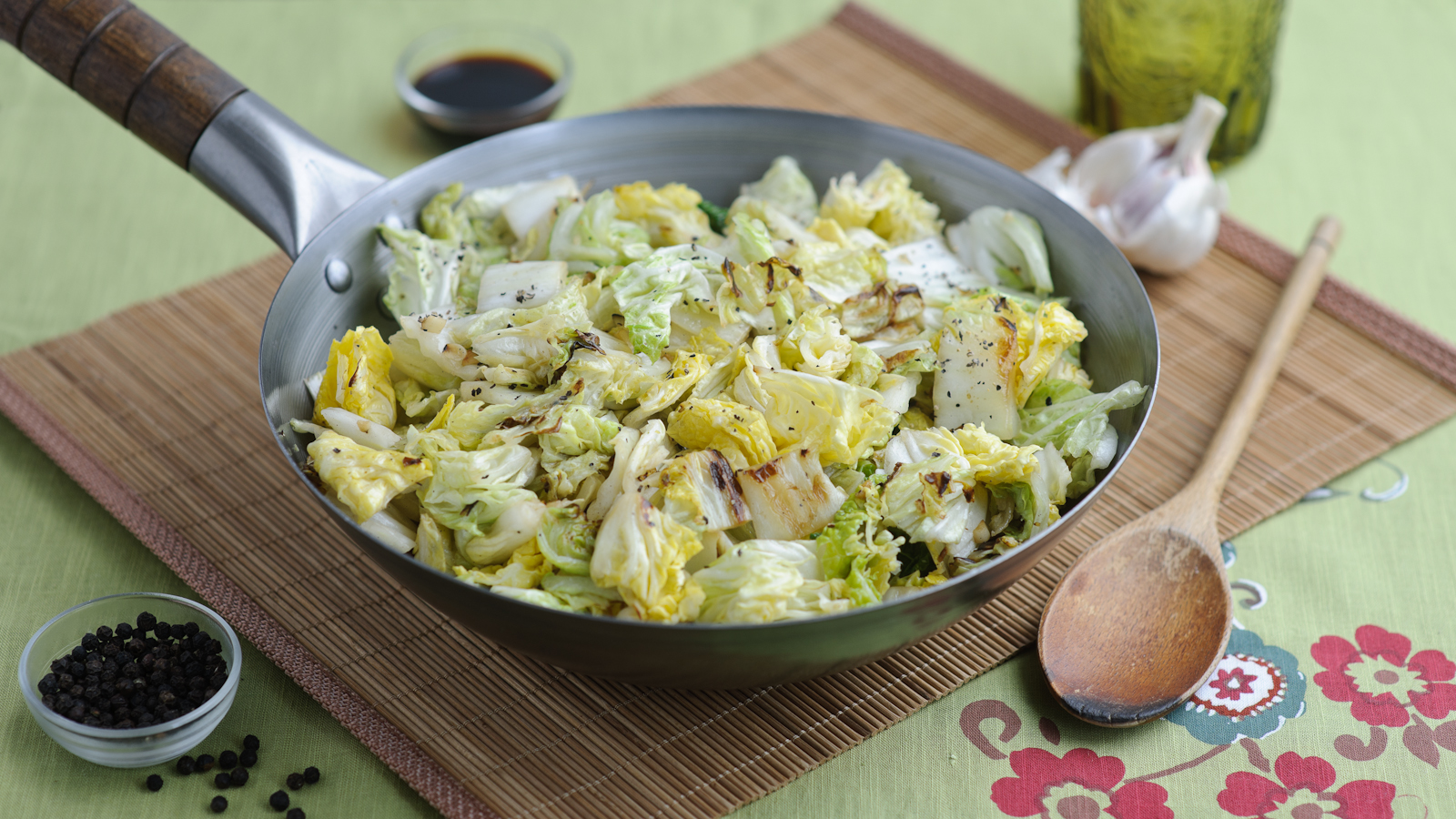 Stir Fried Cabbage With Garlic Recipe Bbc Food