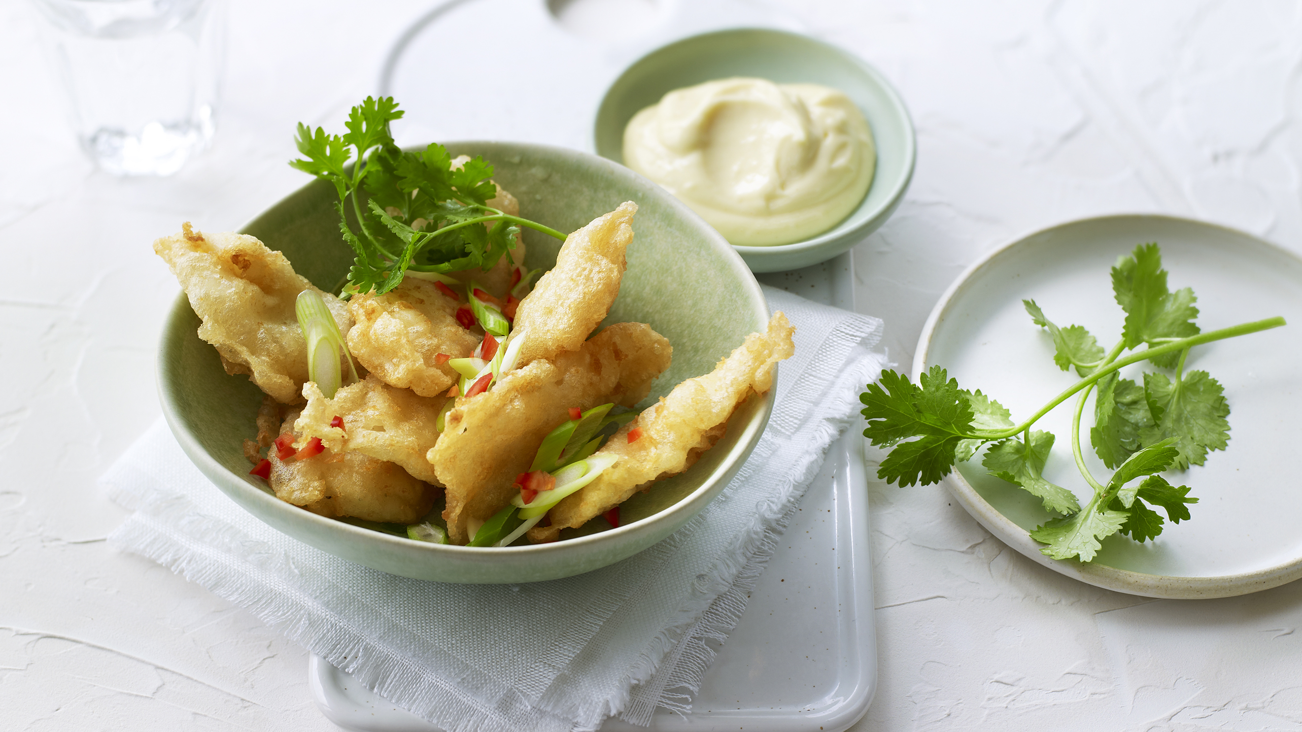 Tempura Squid With Garlic Aioli Recipe Bbc Food