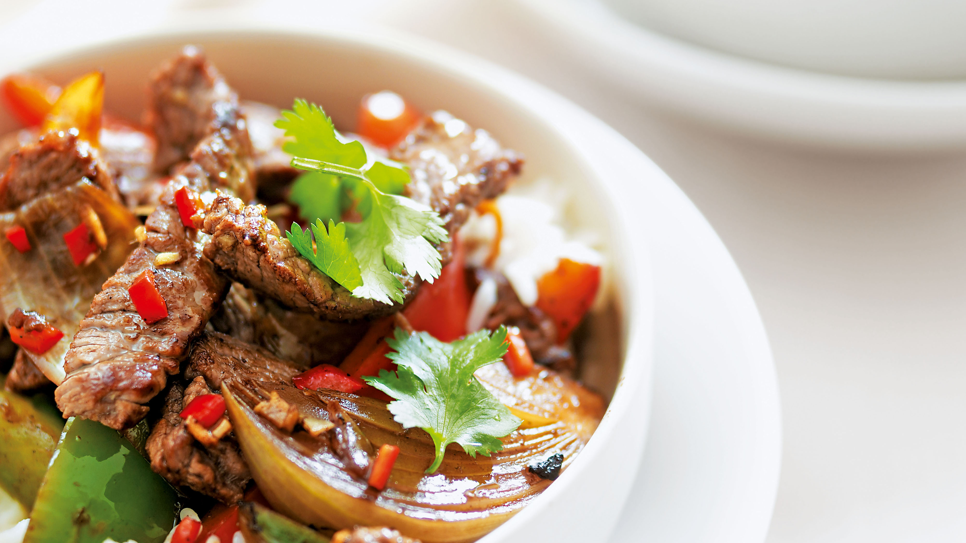 Thai beef and mixed pepper stir fry recipe bbc food forumfinder Choice Image
