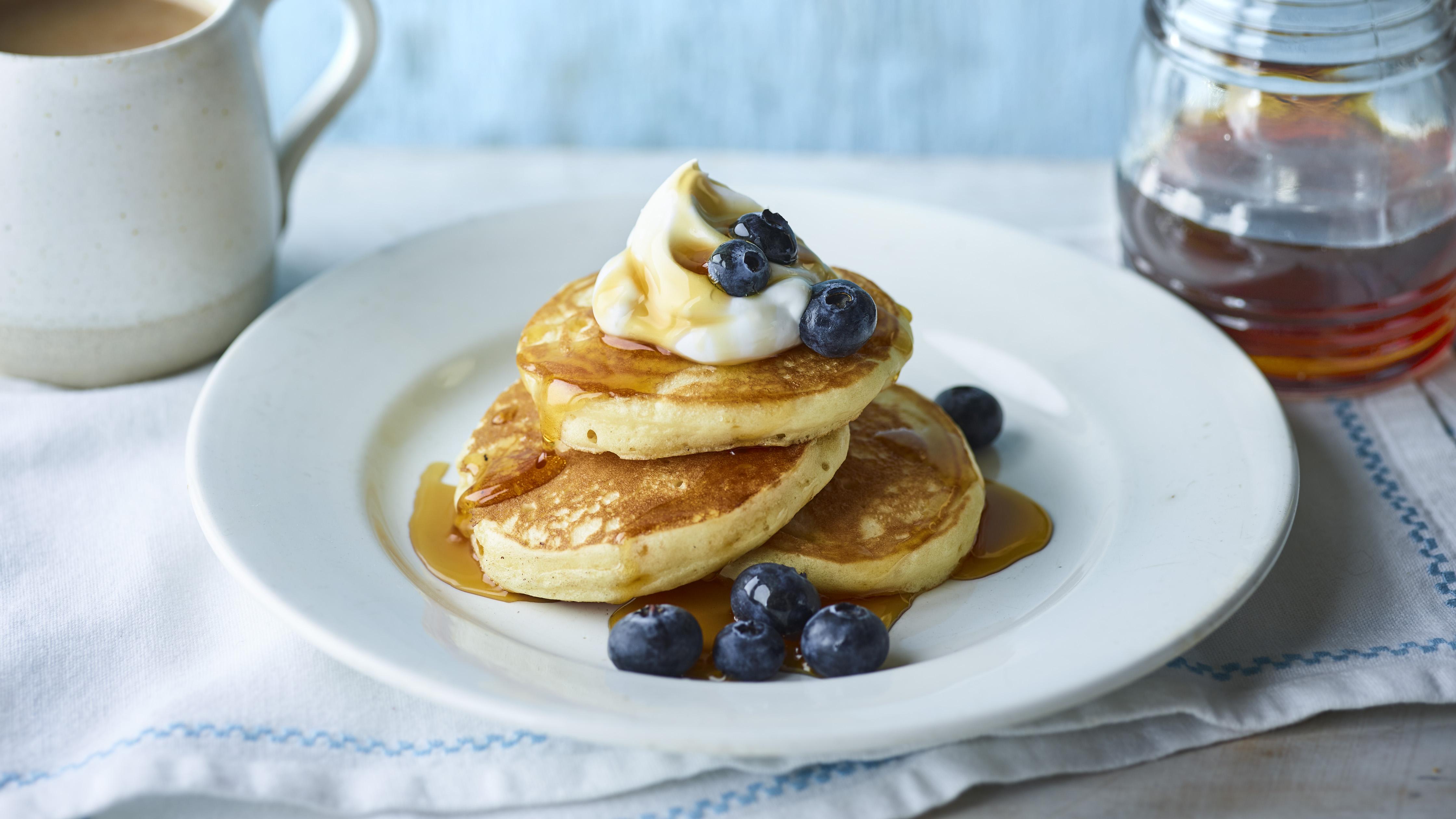 Vegan pancakes recipe - BBC Food