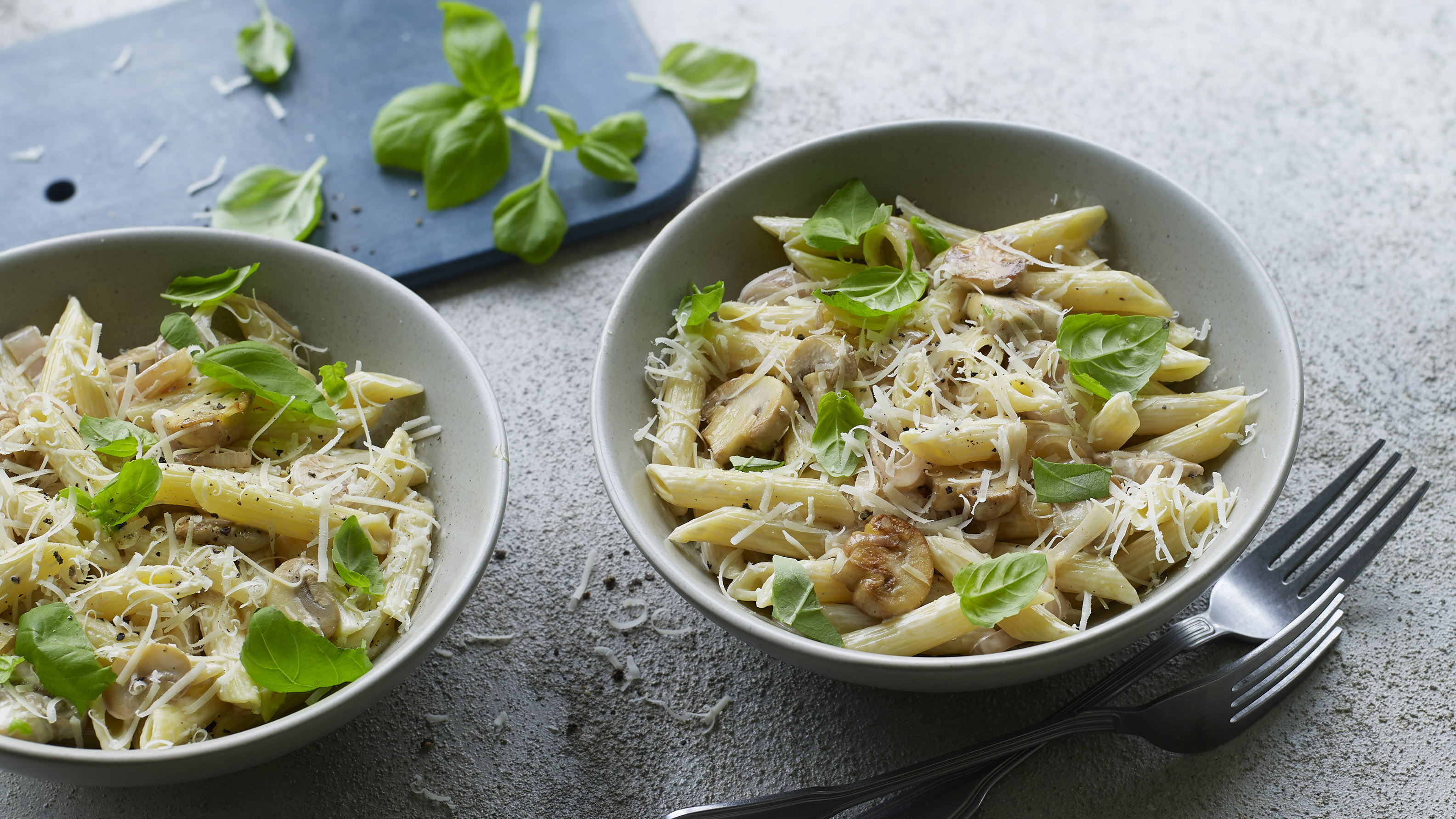 Vegan Creamy Mushroom Pasta Recipe Bbc Food