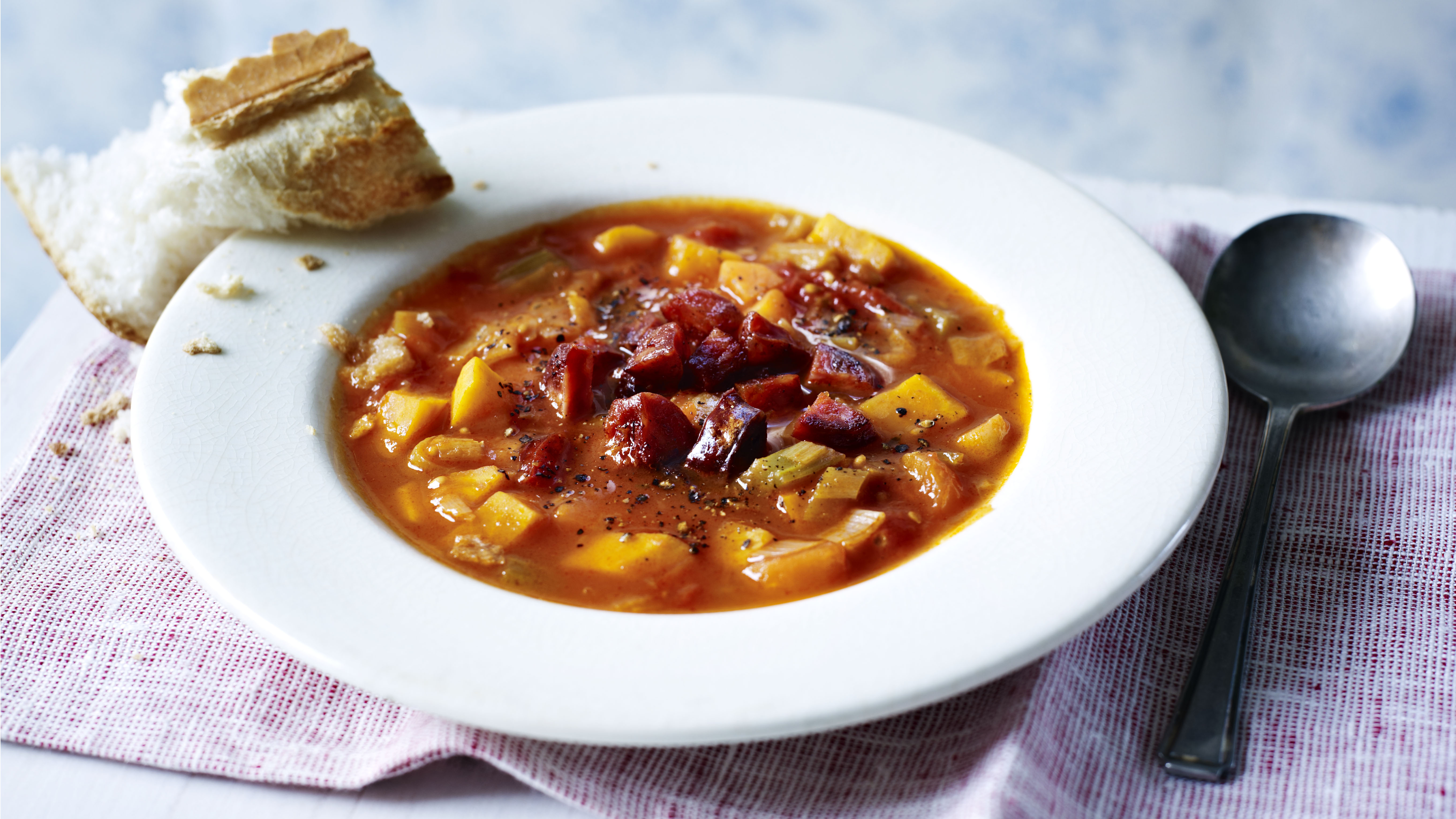 Vegetable and chorizo soup recipe bbc food forumfinder Image collections