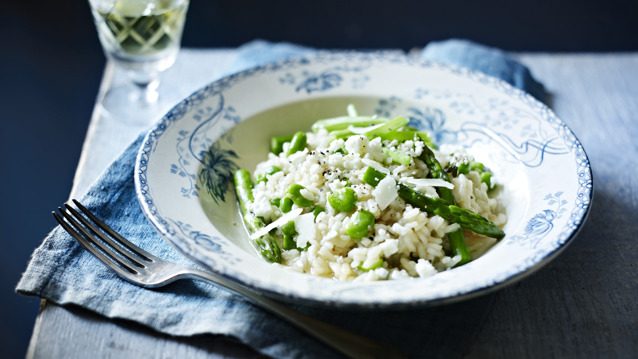 Broad Bean, Lemon and Thyme Risotto Recipe photo