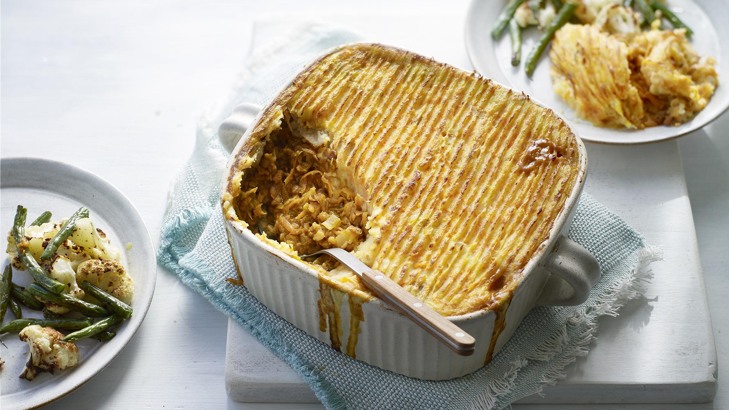Vegetarian Lentil Cottage Pie Recipe Bbc Food