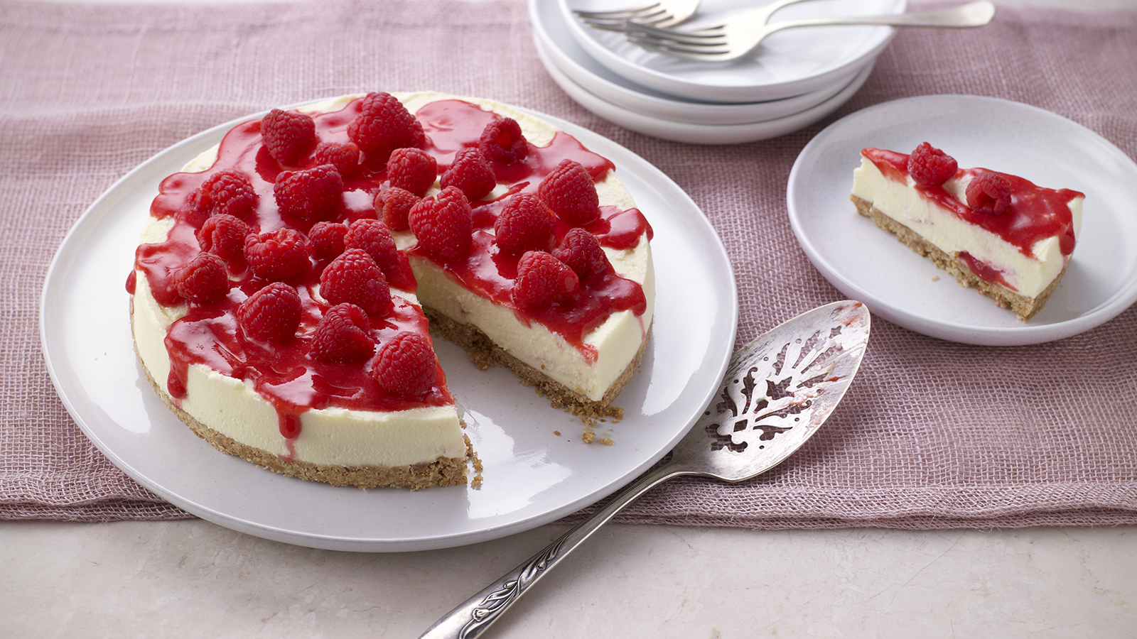 White Chocolate And Raspberry Cheesecake Recipe Bbc Food