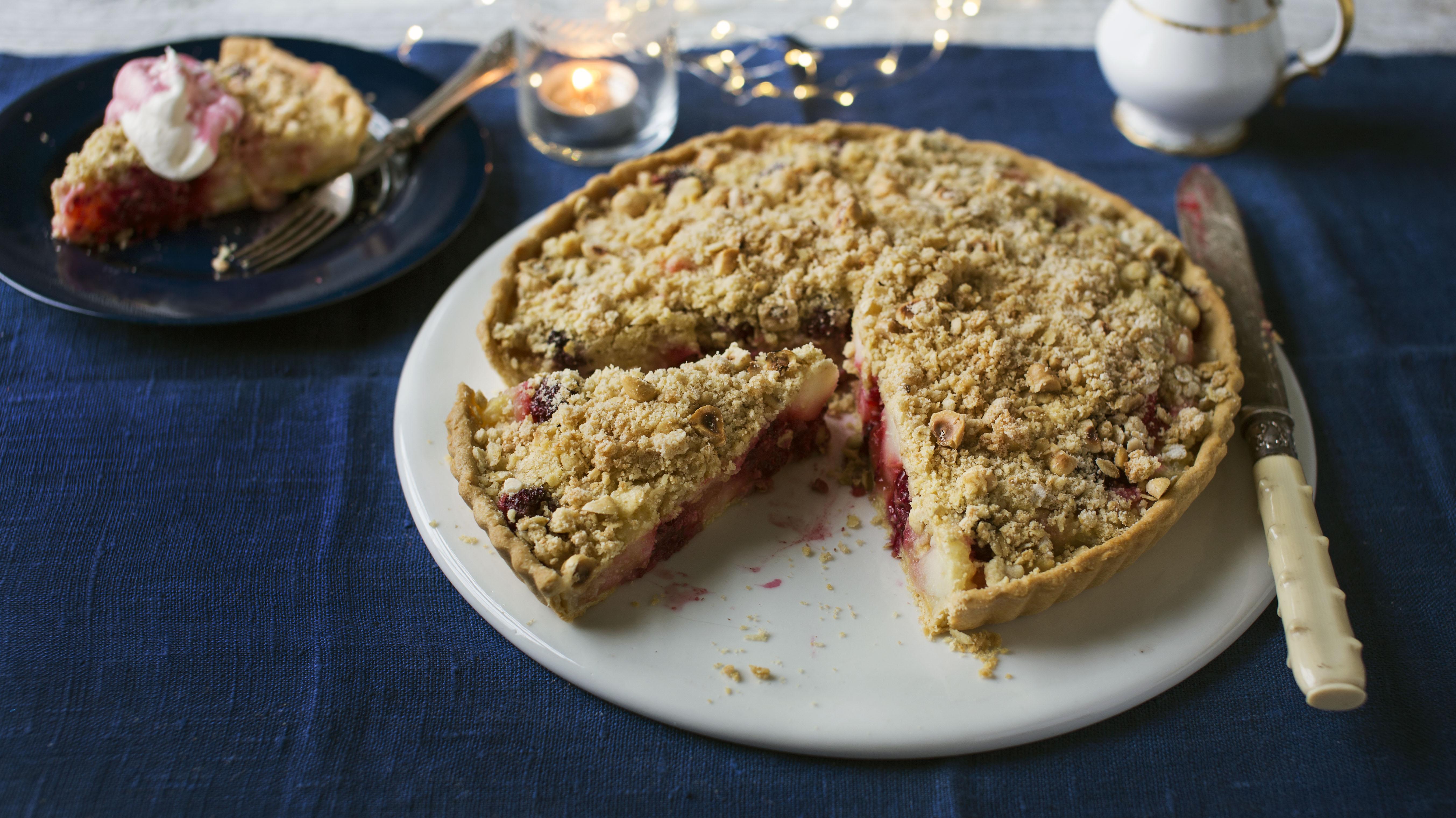 Winter Crumble Tart Recipe Bbc Food